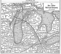 Map Of Ann Arbor Michigan The Ann Arbor Railroad