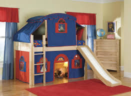 Kid Rug by Beautiful Kid Bedroom Plus Blue Red Tent Oak Wood Boy Bunk Bed W