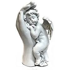 Angel Home Decor Amazon Com Quietly Mother Hand Baby Angel Baby Angel Statues