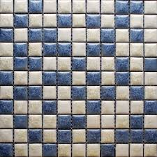 blue and beige porcelain tile backsplash kitchen wall bathroom