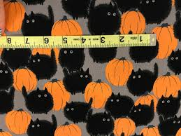 belinda u0027s big kitty black cat halloween fabric cat fabric