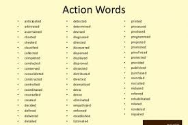 Action Words For Resume Resume by Examples Of Action Verbs For Resumes Active Verbs Examples