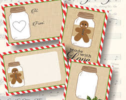 printable gingerbread man gift tags gingerbread gift tag etsy