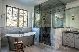 Marble Tile For Bathroom White And Gray Shower With Bardiglio Marble Tiles Transitional