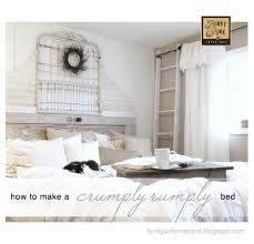 How To Make Bed How To Make A Crumply Rumply Bed Funky Junk Interiorsfunky Junk