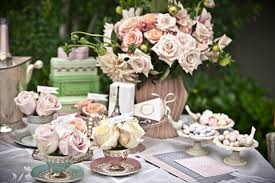 tea party baby shower favors ideas shabby chic vintage high tea