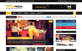 nanopress responsive news magazine blogger template themexpose
