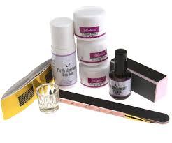 acrylic powder nail art set white clear pink powder primer acrylic