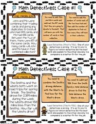 detective task cards justify u0026 explain thinking in multi step