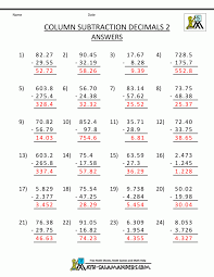 Partial Sums Worksheets Math Dividing Decimals By 2 Digit Tenths A Worksheet Decimals