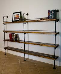 Steel Pipe Shelving by How To Select And Decorate With An Industrial Bookcase U2013 Home Info