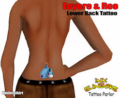 second life marketplace eeyore u0026 roo lower back tattoo