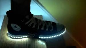 led lights shoes nike diy led shoes for adults youtube