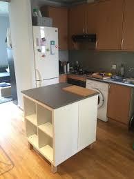 Plan De Travail Central Cuisine Ikea by Un Nouvel Ilot Central Cuisine Avec Kallax Ikea Hack Kitchens