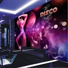 party night wallpapers custom photo silk 3d wallpaper for walls 3 d bars night club ktv