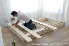 Temporary Beds Homemade Modern Ep89 Platform Bed