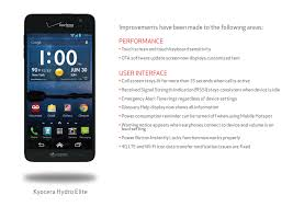 kyocera android verizon kyocera hydro elite receives ota update to software