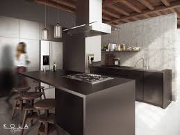 industrial style loft visualization of a loft kitchen freelancers 3d