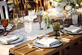 mismatched plates wedding vintage table top rentals archive rentals