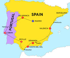 Granada Spain Map by Spain Costsaver Home Australia Destination Guides Europe