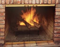 glass fireplace doors for gas logs with glass fireplace doors
