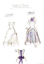 final wedding dress sketch by apprentice yume on deviantart