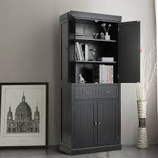black kitchen pantry cupboard gymax kitchen cabinet pantry cupboard freestanding w