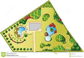 plan of landscape and garden stock vector image 18880010