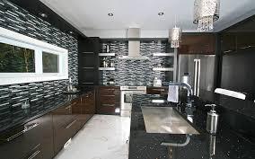 cuisine de luxe moderne cuisine moderne de luxe armoires de chêne rift cut noir et