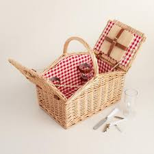 picnic baskets for two summer weekend willow picnic basket for two world market