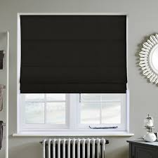 faux suede black roman blind direct blinds