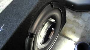 2000 nissan frontier custom 2000 nissan frontier center subwoofer install test youtube