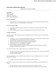 resume objective examples insurance underwriting resume ixiplay