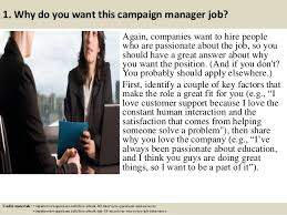 Top 10 campaign manager interview questions and answers