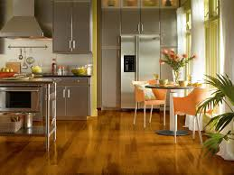 decorating contemporary kitchen design with cherry shaw flooring