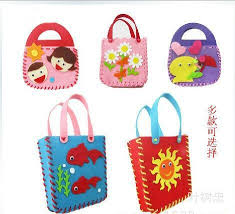 Handmade Fabric Crafts - 15pcs lot diy felt handbag craft kits fabric crafts children bag