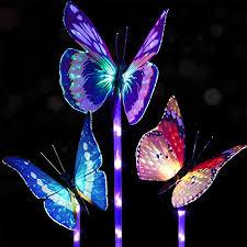 multi colored solar garden lights doingart garden solar lights outdoor 3 pack solar stake light