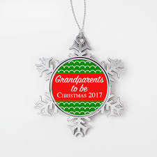 grandparents to be christmas ornament personalized christmas