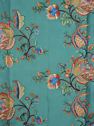 Multi Color Curtains Halo Embroidered Multi Color Scenery Dupioni Silk Custom Made