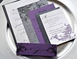 Purple Wedding Invitations Extraordinary Black White And Purple Wedding Invitations 54 In