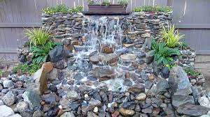 Waterfall Ideas For Backyard Waterfall Design Ideas Landscape Garden Advice Creating Natural In