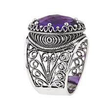 ottoman silver jewelry collection 7 6ct amethyst crown ring