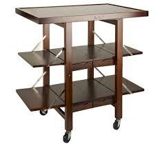 folding island kitchen cart with extendable shelves page 1 u2014 qvc com