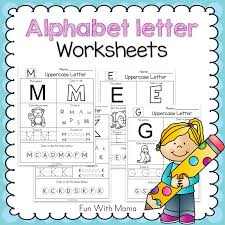 alphabet letter worksheets fun with mama