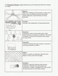 Symmetrical Shapes Worksheets Elements Of Principle Design Worksheet Mannyfurlonge