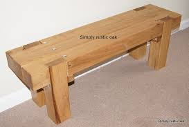 Rustic Oak Bench Rustic Oak Dining Benches By Simply Rustic Oak