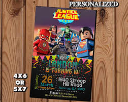justice league party favor bags justice league birthday