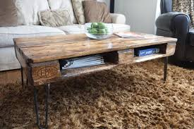 Coffee Table Out Of Pallets by Diy Pallet Skid Coffee Table With Metal Legs Pallet Furniture Diy