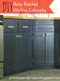 coastal blue painted kitchen cabinets