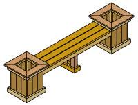 benches and table plans